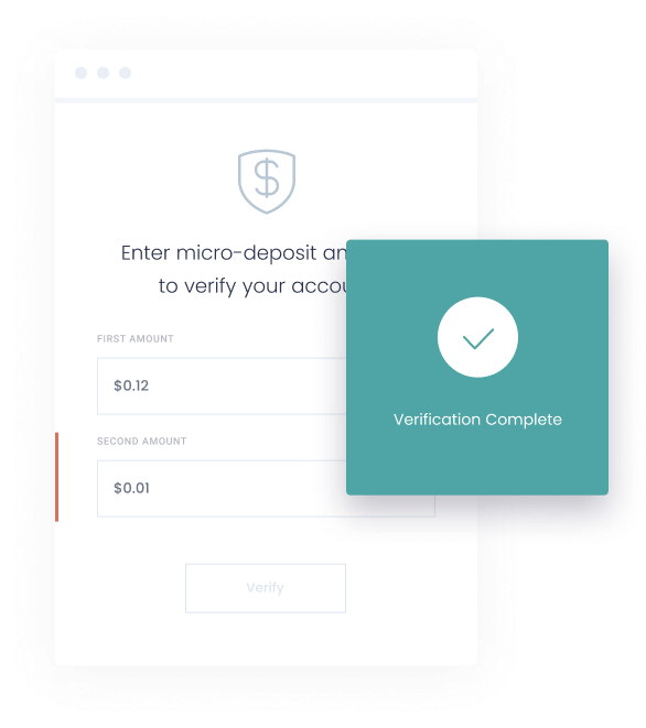 micro-deposit verification screen on Dwolla platform