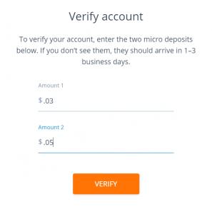 Bank verification method