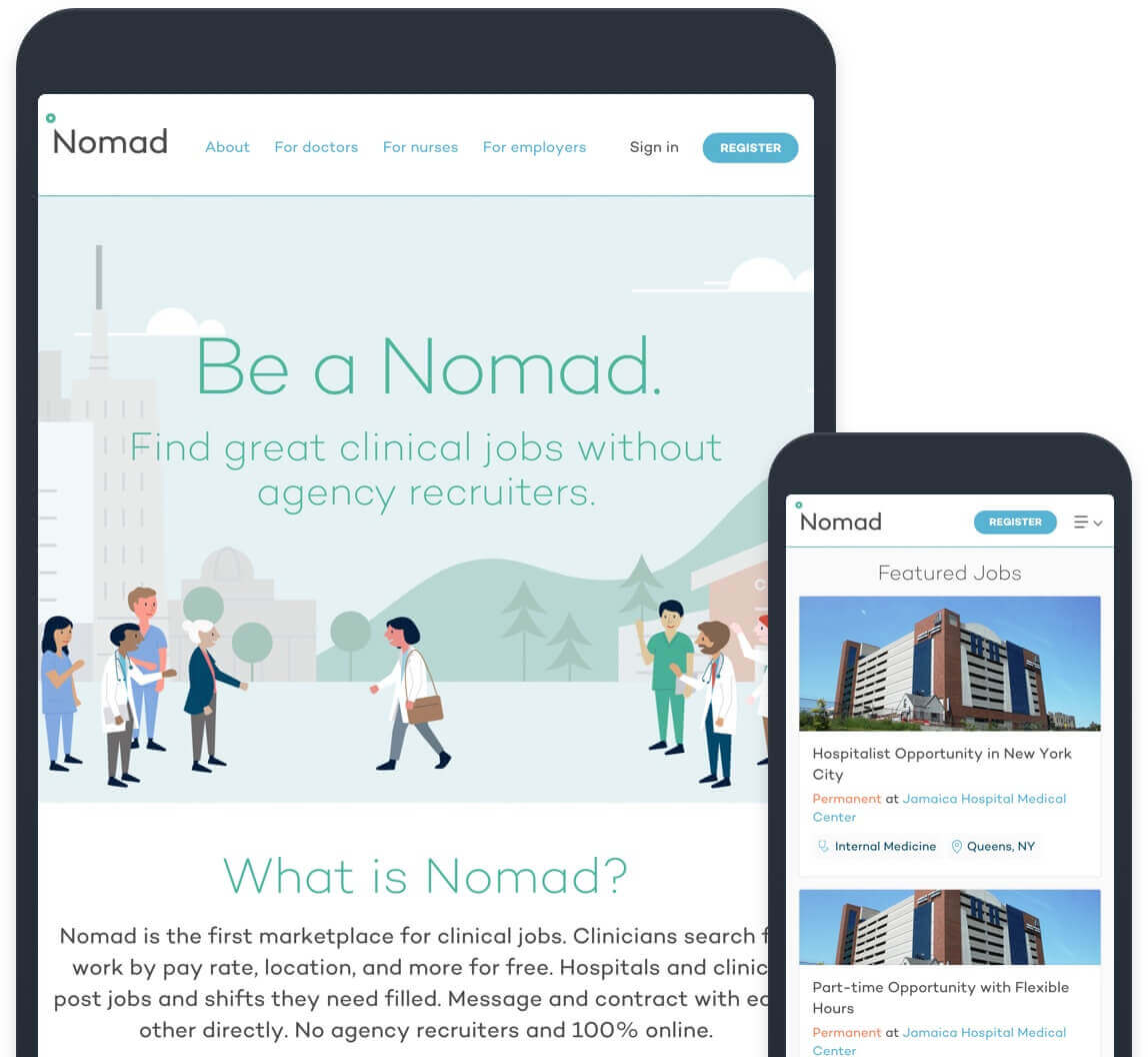 Nomad Health | ACH Payments & Same-Day ACH Payouts | Dwolla