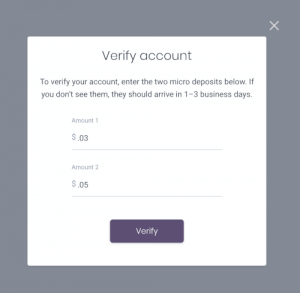 micro-deposits dwolla platform verification