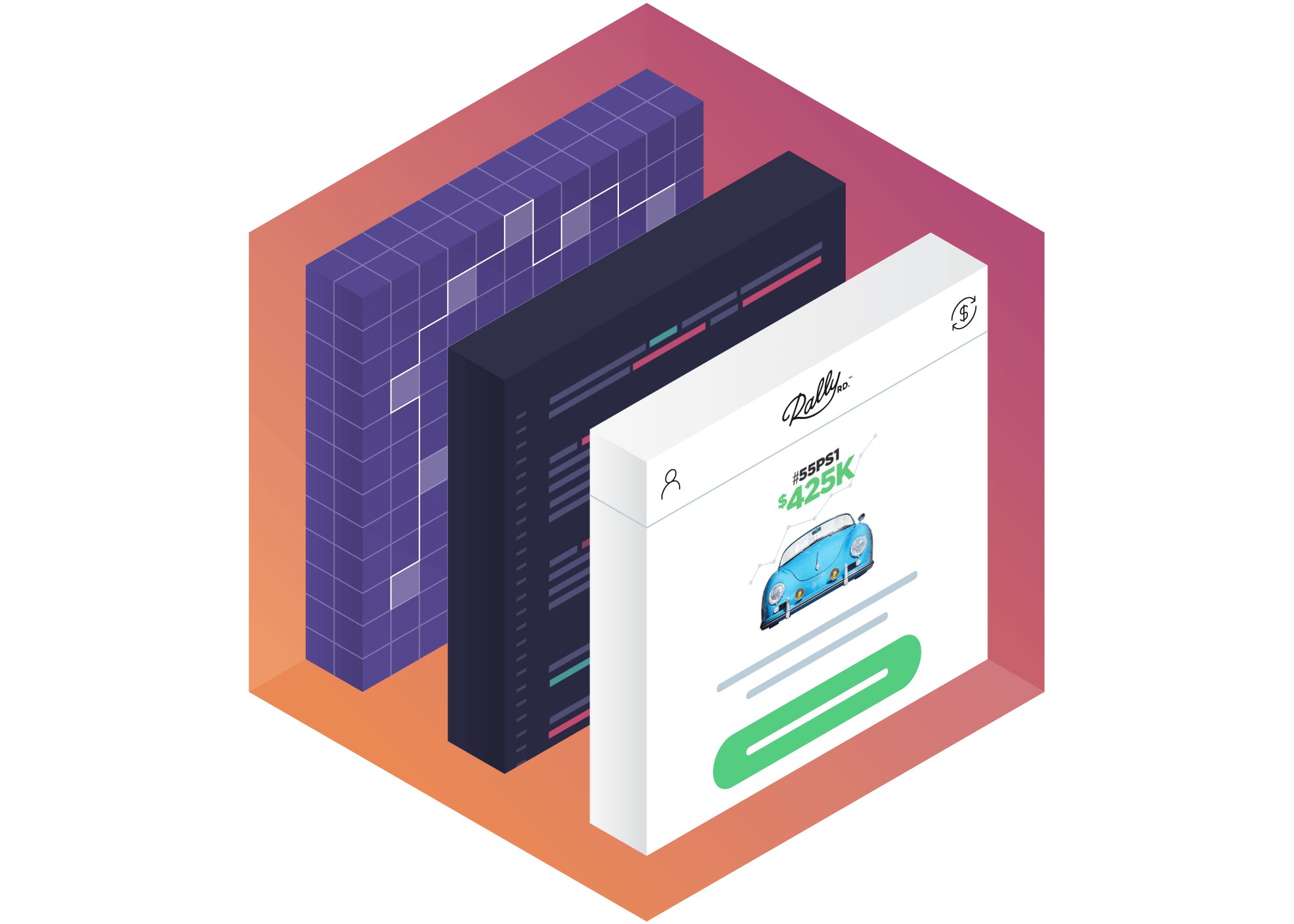 api isometric illustration