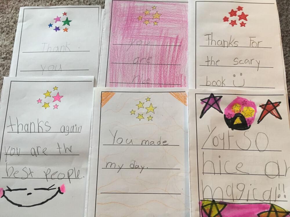 book fair thank you notes